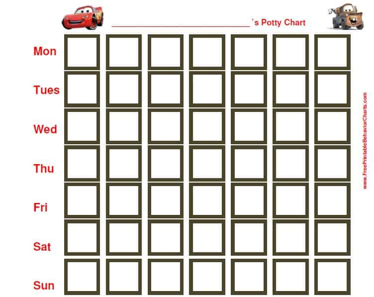 potty training chart free