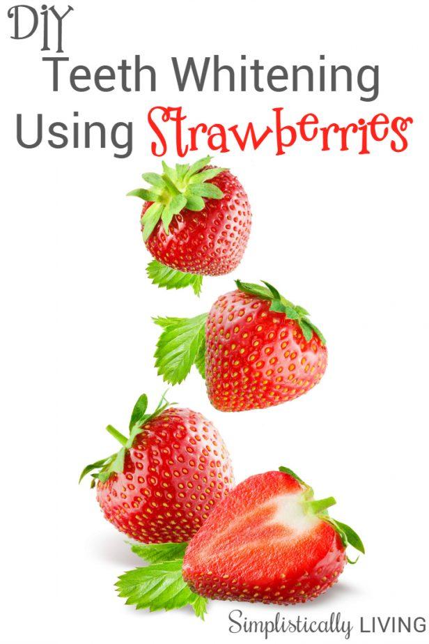 teeth whitening using strawberries