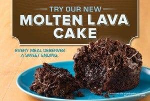 free molten lava cake