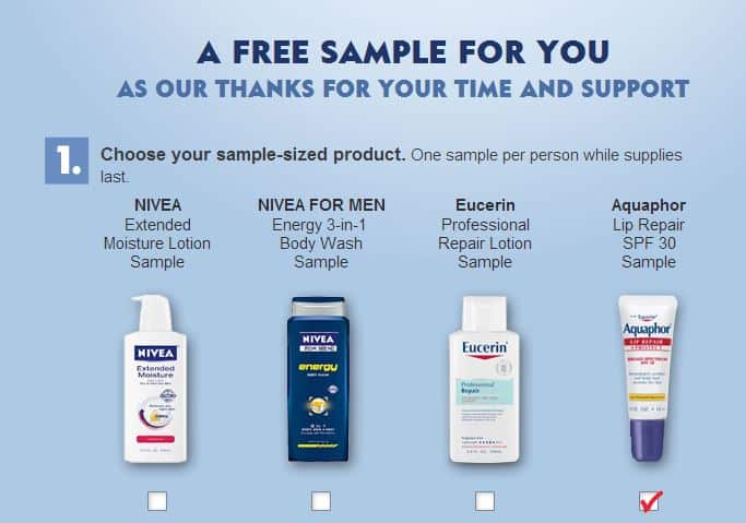 Free Nivea Samples Choose From Lotion Body Wash Or Lip Care