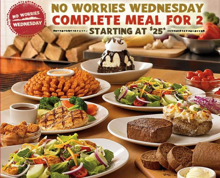 outback steakhouse no worries wednesday