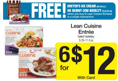 Smith 39 s lean cuisine frozen dinners just free ice for Average price of lean cuisine