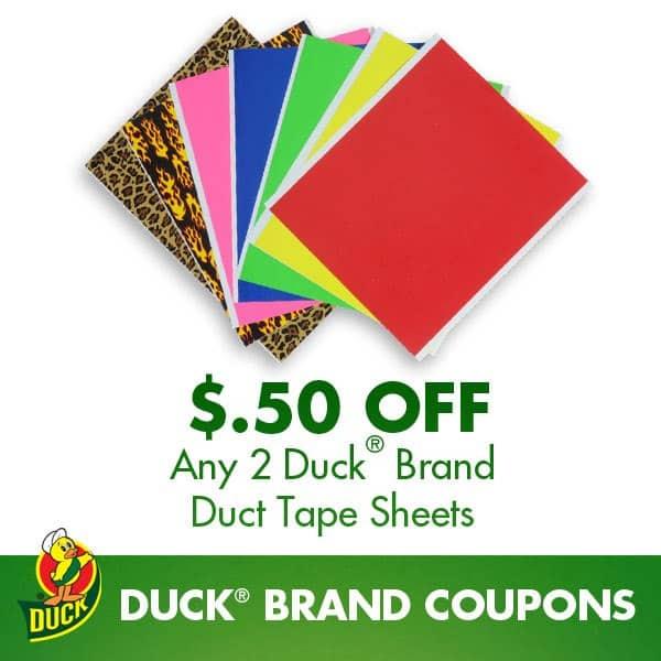 Duck tape coupon zip code
