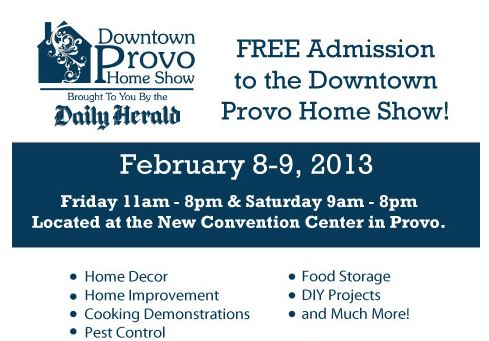 free admission to provo home show