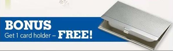 Vistaprint buy 250 business cards get 250 for free bonus case free card holder reheart Images