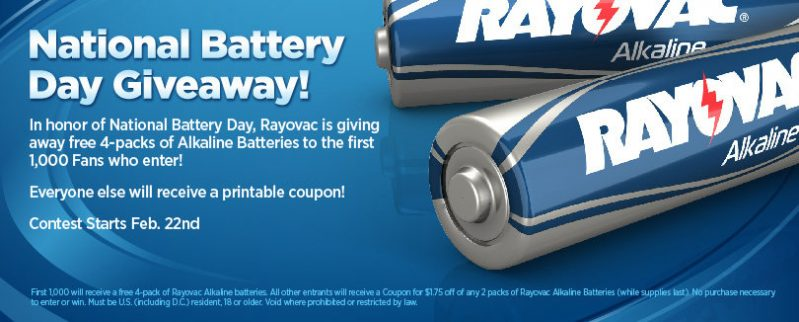 national battery giveaway