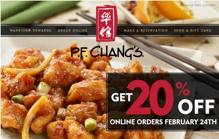 P.F. Chang's offers a casual dining atmosphere to experience authentic Chinese food & Asian cuisine. Explore our menu, order online, make reservations and get directions to your local P.F. Chang's. Taste the Farm to Wok difference today.