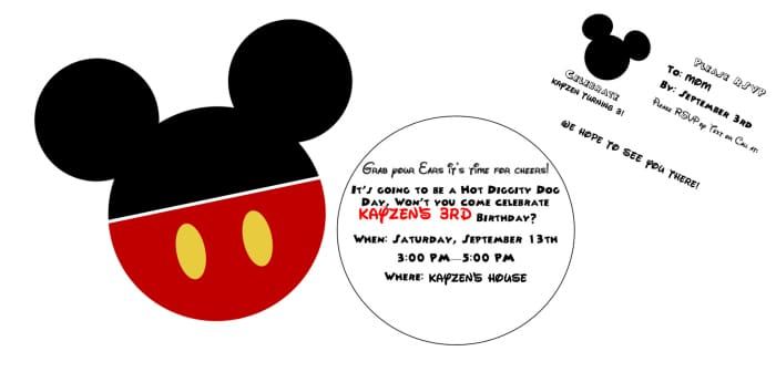 diy mickey mouse clubhouse party invitations free editable invitation