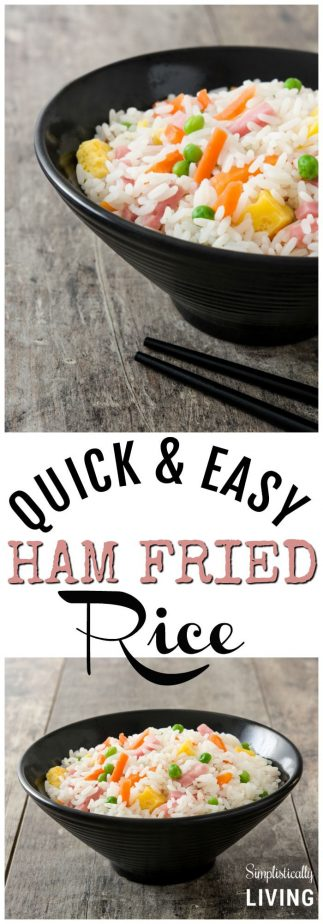 Easy Ham Fried Rice #ham #hamfried #rice #ricerecipes #easyrecipes #chinese