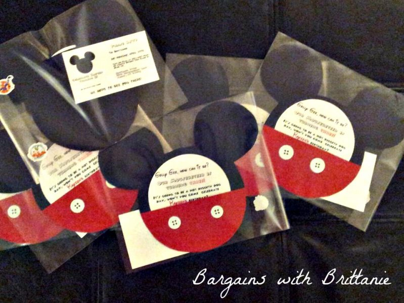 DIY Mickey Mouse Clubhouse Party Invitations