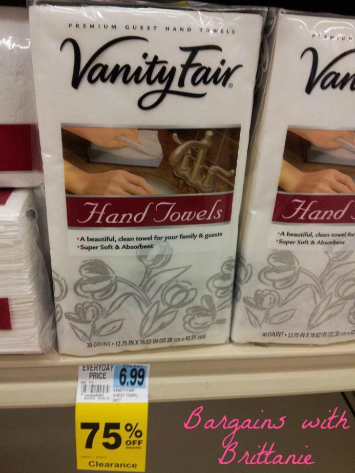 vanity fair hand towels