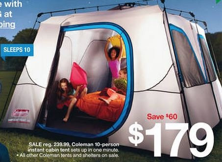 coleman 10-person tent & Target: Coleman 10-Person Cabin Tent Only $161.10! (Normally ...