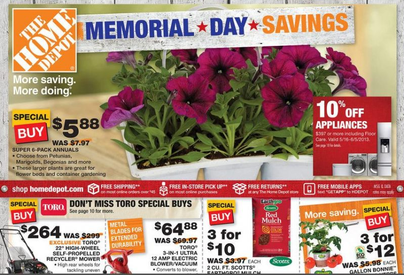 Home Depot Memorial Day Savings Starts Today   Deals I Found ...