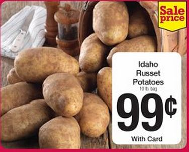 This Week Smiths Check Your Kroger Affiliated Store For Deal Is At It Again With Awesome Deals You Can Pick Up 10 Pound Bags Of Idaho Russet Potatoes