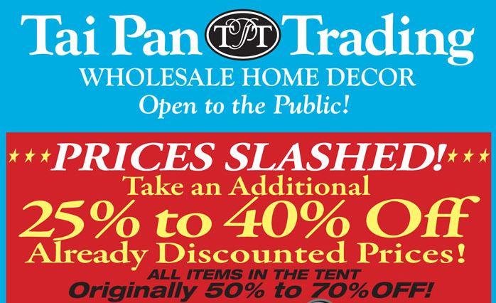 Tai Pan Trading Tent Sale