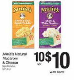 annies natural mac & cheese