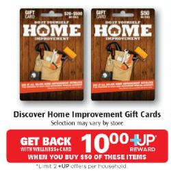 home depot home improver card 40 for 50 discover home improvement gift cards at 321