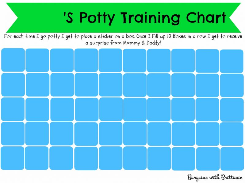 kids potty chart