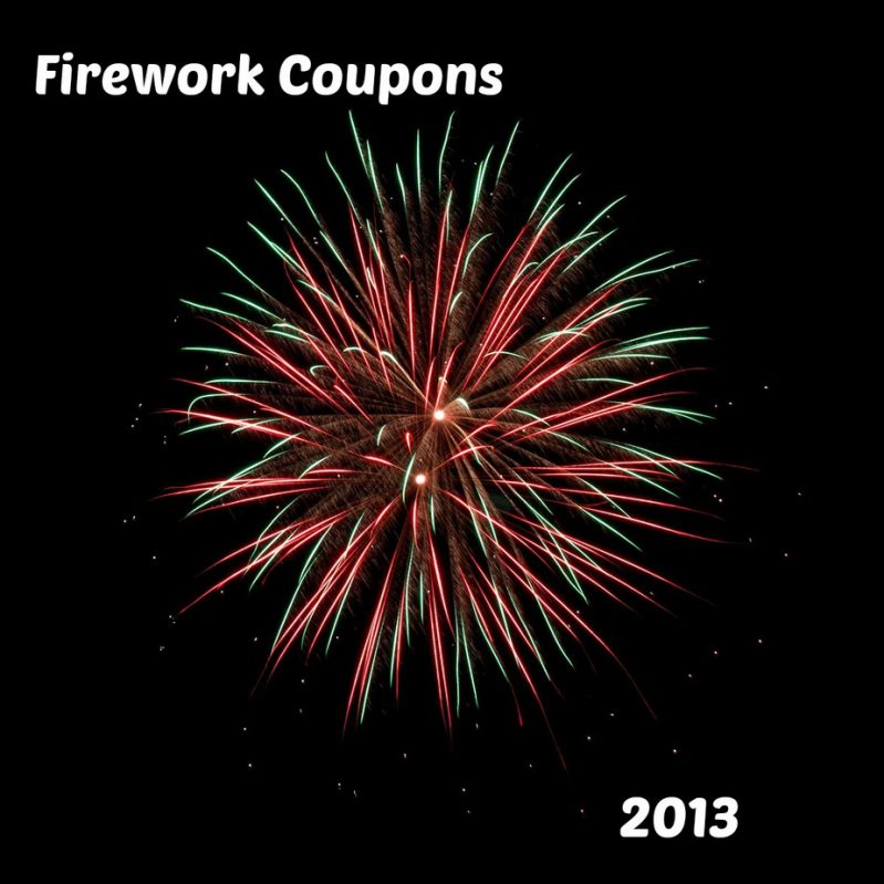 Firework coupons