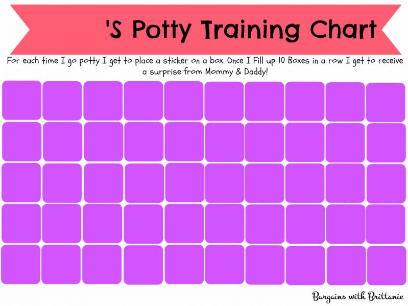 girls printable potty training chart