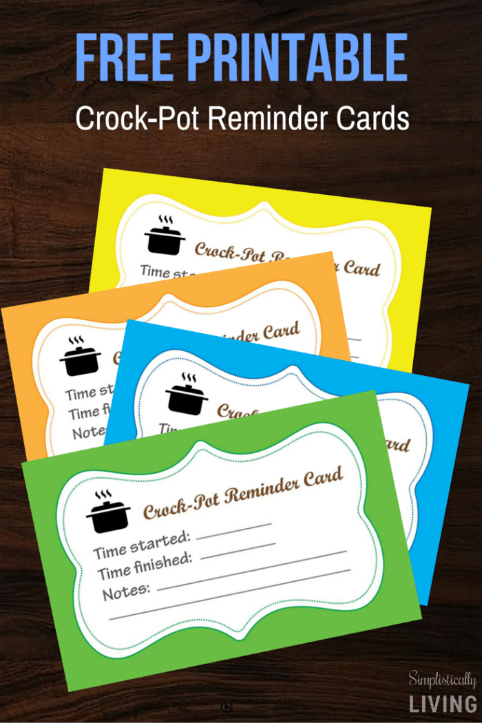 Crock-Pot Reminder Cards (Free Printable)2