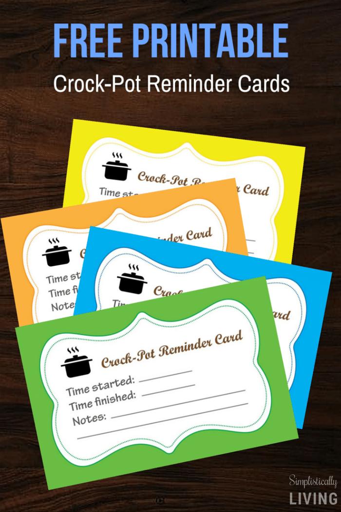 Crock-Pot Reminder Cards (Free Printable)2