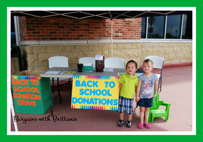 back to school donation drive