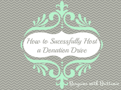 how to successfully host a donation drive