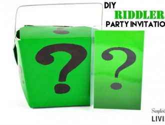 DIY Riddler Party Invitations!