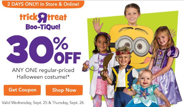 sc 1 st  Simplistically Living & 30% off Any Single Halloween Costume at Toys R Us! 2 Days Only!