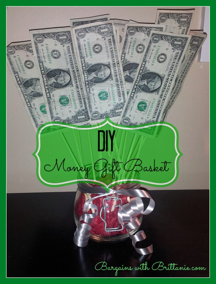 DIY Money gift basket