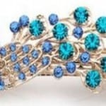 Women's Vintage Crystal Peacock Hair Clip