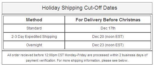 carter's shipping deadline