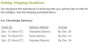 crazy 8 and gymboree shipping deadline
