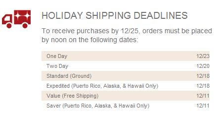 gamestop shipping deadlines