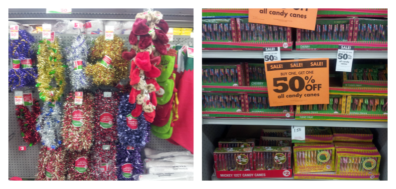 holiday decor at family dollar