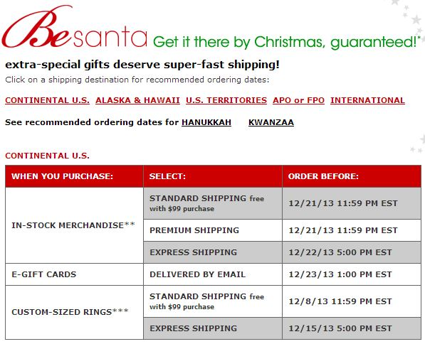 macy's shipping deadline
