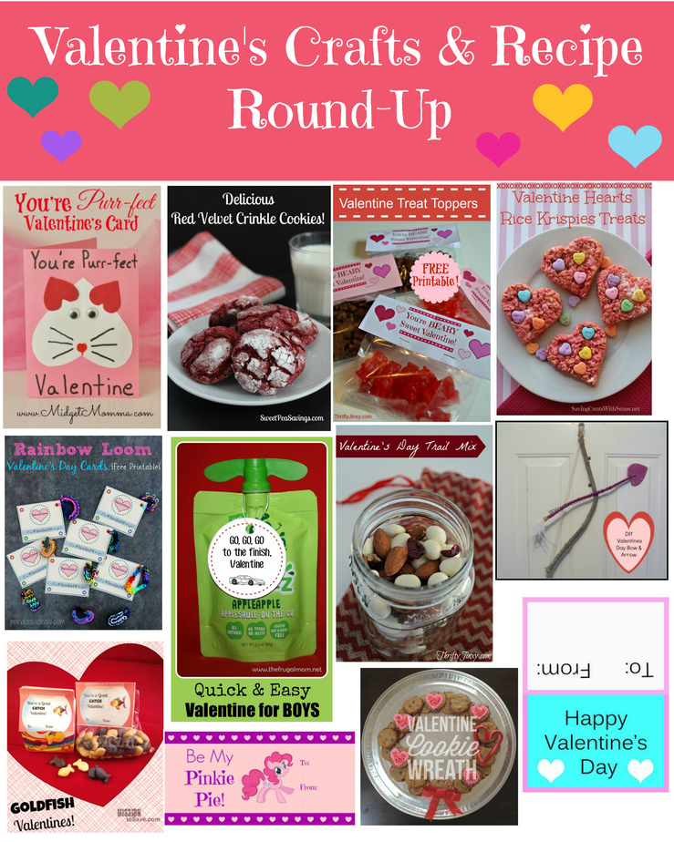 Valentine's Crafts & Recipe Round-Up