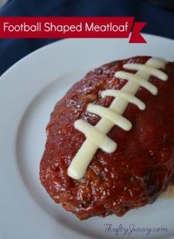 football shaped meatloaf