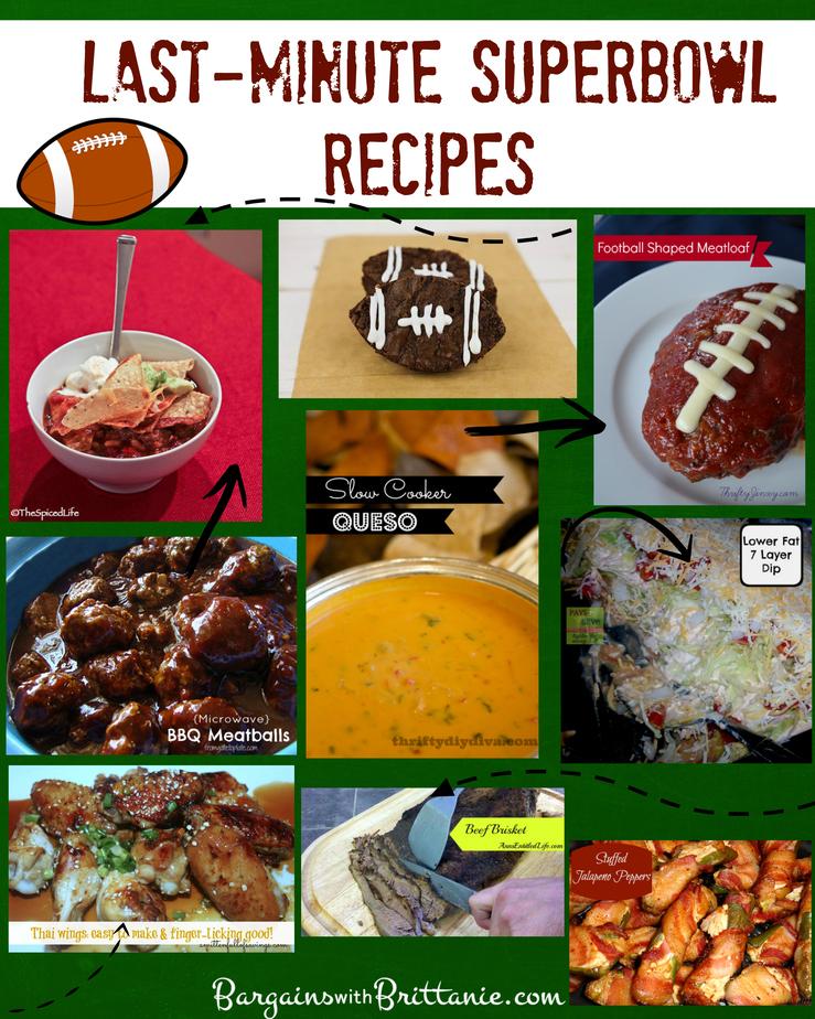 Last-Minute Superbowl Recipes