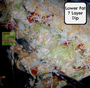 low fat 7 layer dip
