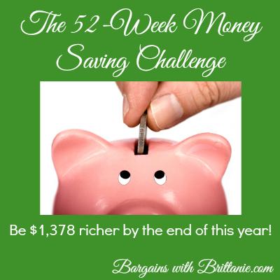 the 52-week money saving challenge