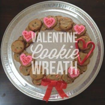 valentine's cookie wreath