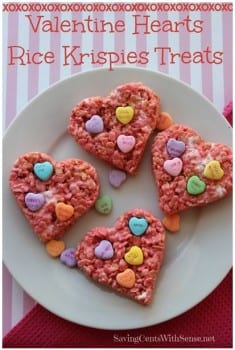 valentines rice krispies