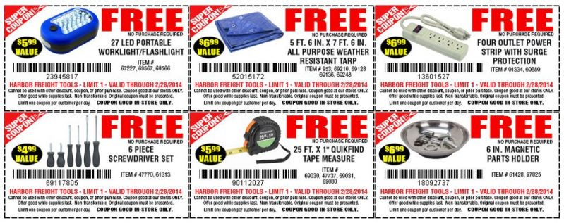 Harbour tools coupons