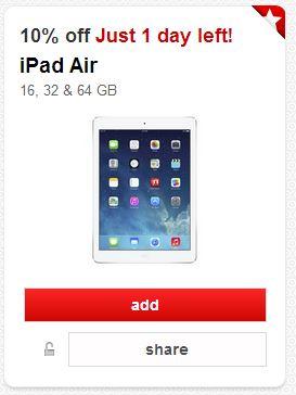 Target coupon ipad air