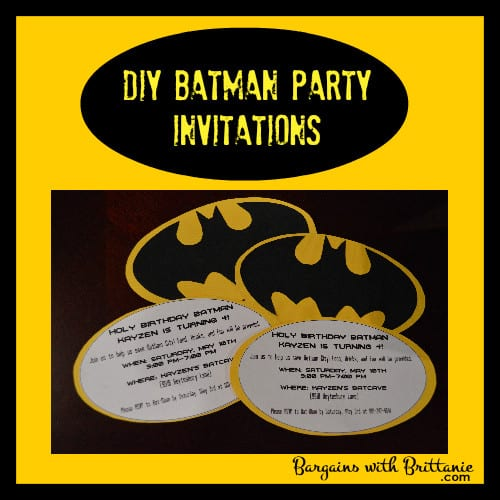 DIY Batman Party Invitations