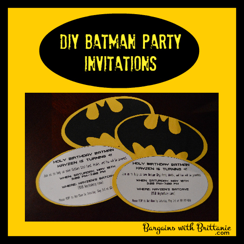 DIY Batman Party Invitations!