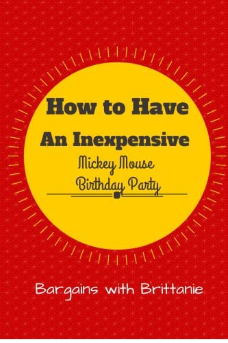How to have an inexpensive mickey party