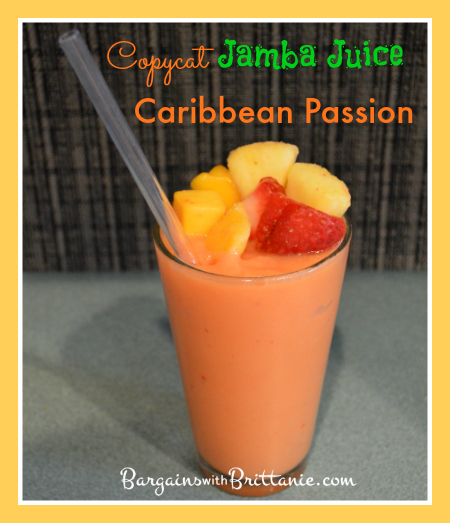 Copycat Jamba Juice Caribbean Passion Smoothie Recipe!